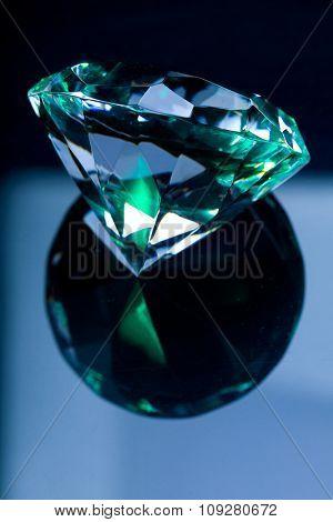 Big royal diamond and reflection