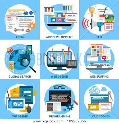 Web Development Concept Set