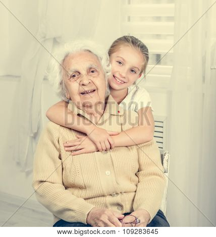 portrait of greatgranddaughter and greatgrandmother