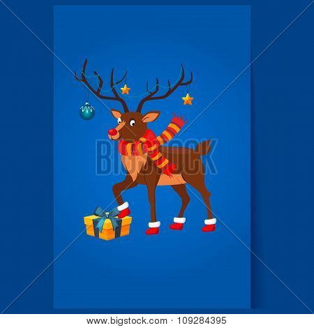 Deer with a Christmas Garland