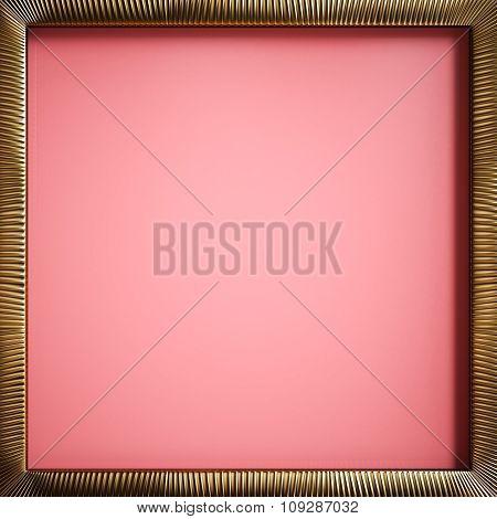 Gold Frame Pink Background