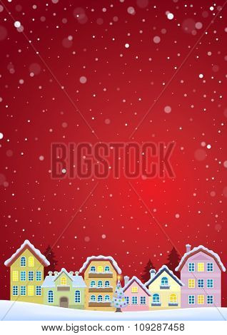 Winter theme with Christmas town image 4 - eps10 vector illustration.