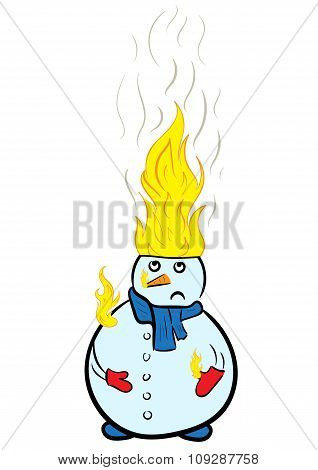 The burning snowman