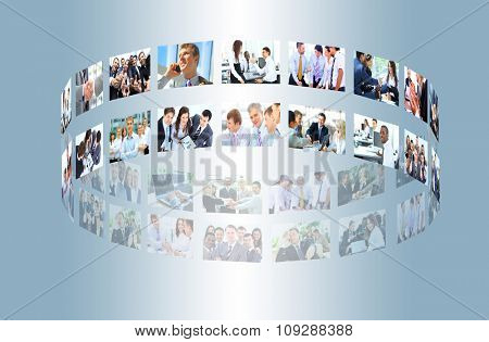 Business collage made of some business pictures