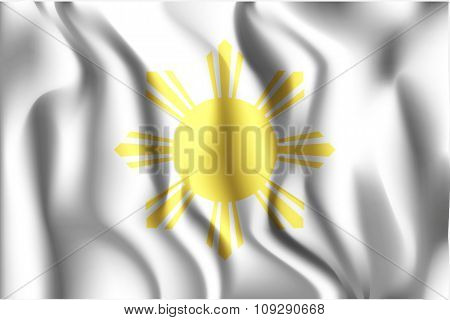 Philippines Variant Flag. Rectangular Shape Icon