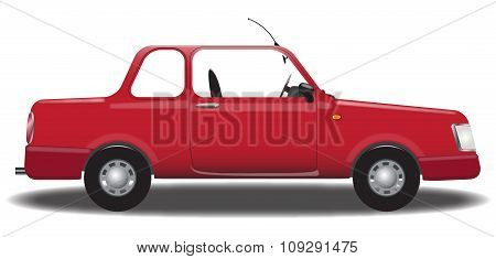 Red Saloon Car