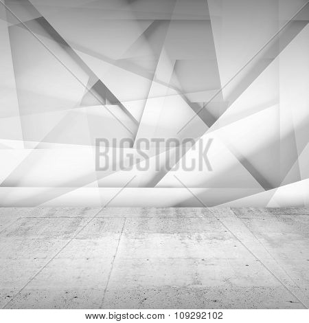 Abstract Empty Interior Background, White Room