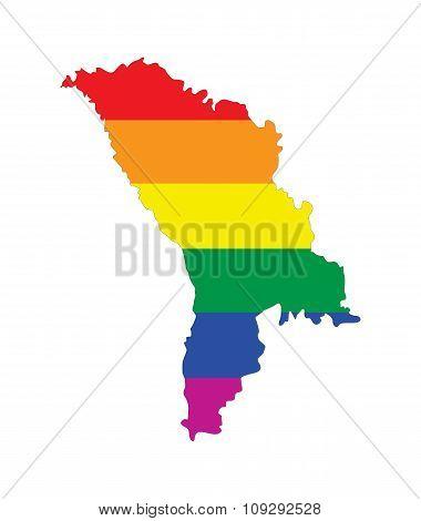 Moldova Gay Map