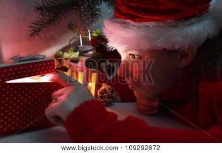 Girl Under The Christmas Tree