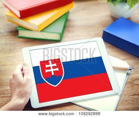 Slovakia National Flag Government Freedom LIberty Concept