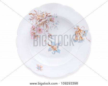 Ancient Porcelain Soup Plate