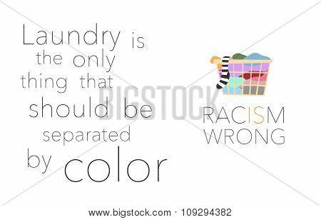 No racism banner