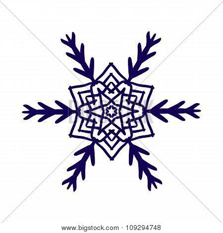 Ornament black white card with mandala.
