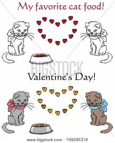 Cat Food And Valentine's Day