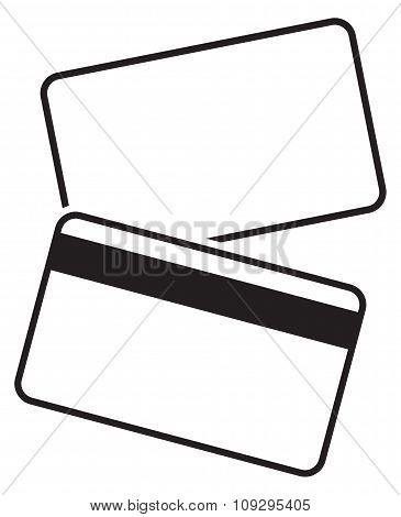 Debit Card Empty Silhouettes