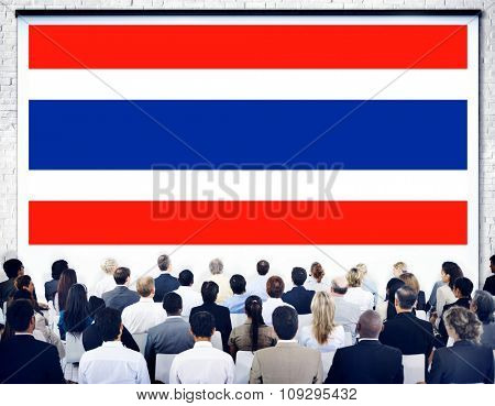 Thailand National Flag Government Freedom LIberty Concept
