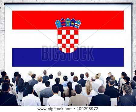 Croatia National Flag Government Freedom Seminar Concept