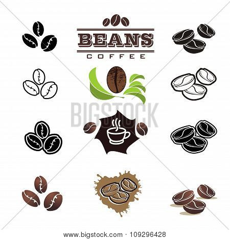 Collection Of Coffee Design Elements. Vector Illustration.