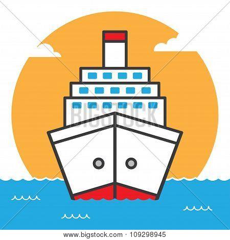 Ship sea cruise liner