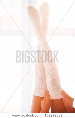 Beauty In White Socks.
