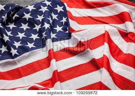 Flag of USA close up photo