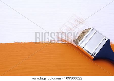 Painting Orange Surface With White Paint