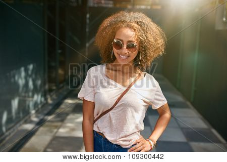 Attractive Young Woman Posing Outdoors