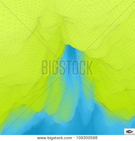 Abstract Hi-Tech Background. Vector Illustration. Mosaic.