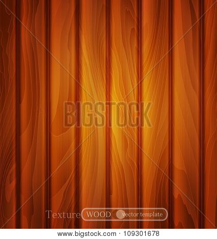 vector wood background (texture) of brown wooden planks
