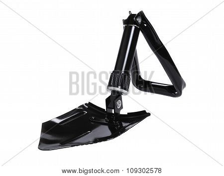 Foldable steel shovel