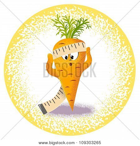 Carrot With Measuring Tape