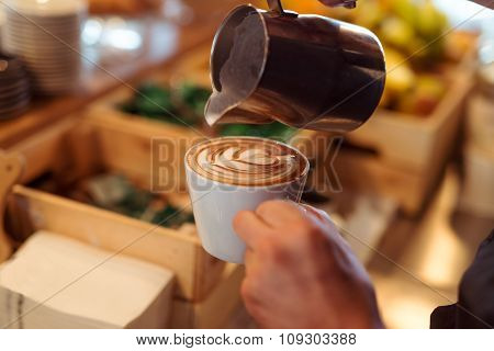 Making A Latte Art