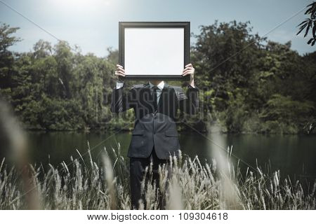 Placard Advertisement Display Space Concept
