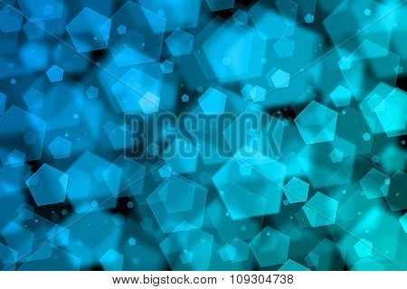 Blue Abstract Blurred Background With Bokeh Effect