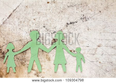Figures Of The Family On A Dirty Canvas
