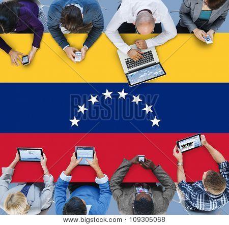 Venezuela National Flag Government Freedom LIberty Concept