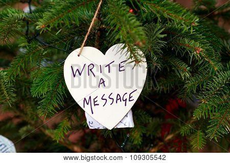 Christmas Tree Where You Left A Christmas Message To Santa