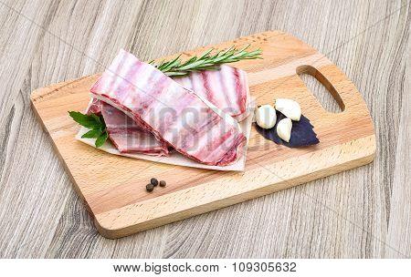 Raw Lamb Ribs