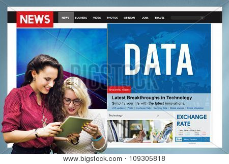 Data Information Networking Connection Technology Concept