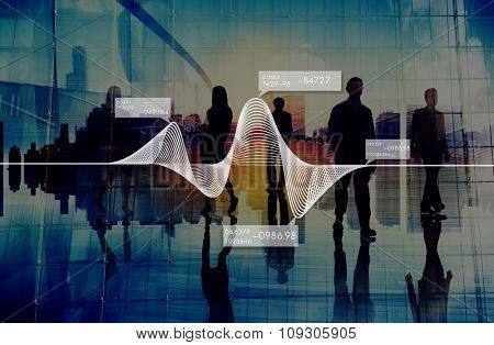 Diagram Graphs Information Statistics Stock Data Concept
