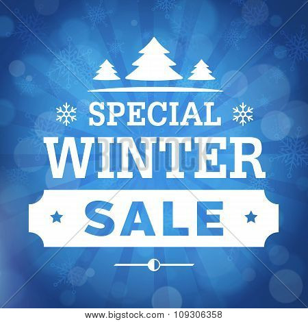 Special Winter Sale Poster Background