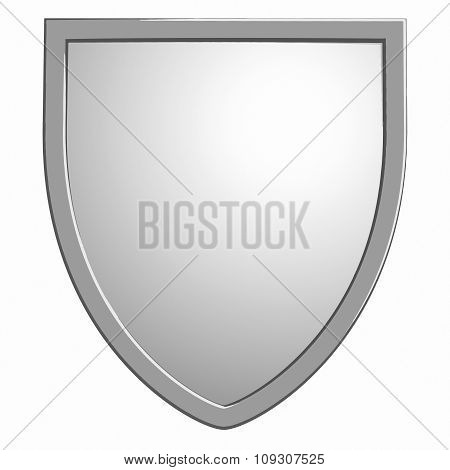Shield Vector Symbol Isolated On White