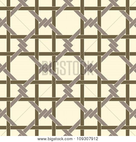 Geometric Seamless Pattern Background With Weave Style.