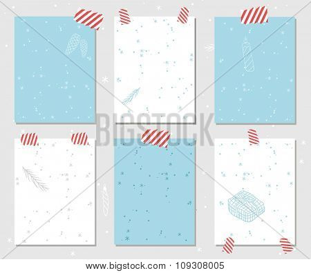 New Year greeting card vector banner isolated. Christmas Holidays winter decoration. Hand draw New Year greeting card banner. Christmas banners. Christmas holiday poster. New Year banner template