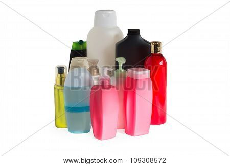 Colored Plastic Bottles With Batcher