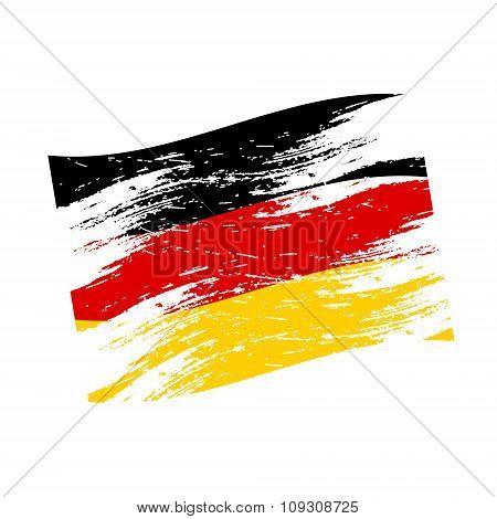 Color Germany National Flag Grunge Style Eps10