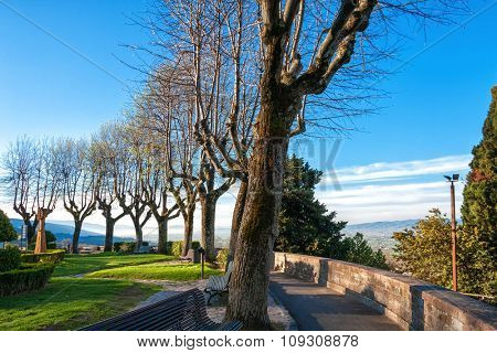 Park on a hill in Assisi