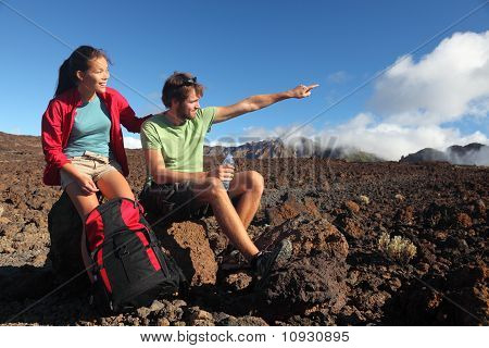 Young Couple Outdoors Hiking