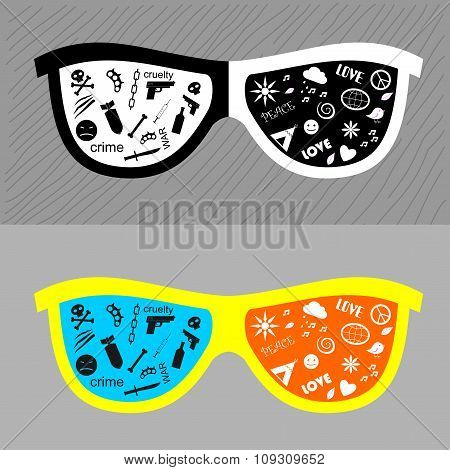 Glasses with different lenses.