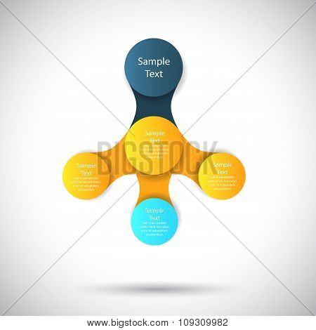 vector infographics metaball round diagram template for business presentations